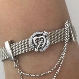Pandora reflexion heart and arrow charm